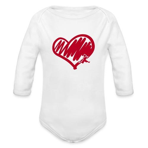 Herz - Baby Bio-Langarm-Body
