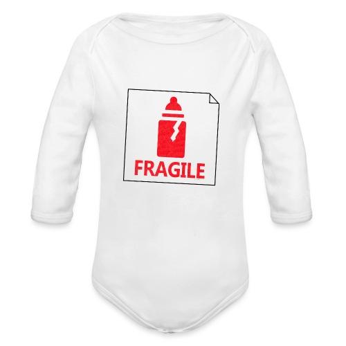 Fragile - Body Bébé bio manches longues