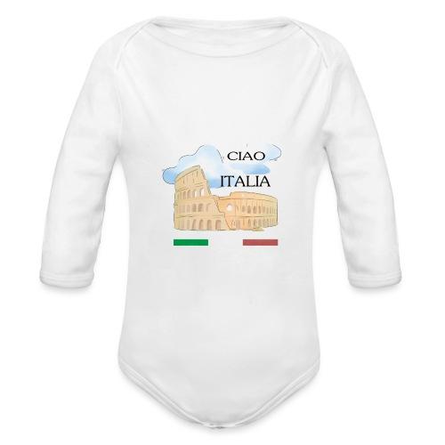 hello italy T-Shirts - Organic Longsleeve Baby Bodysuit