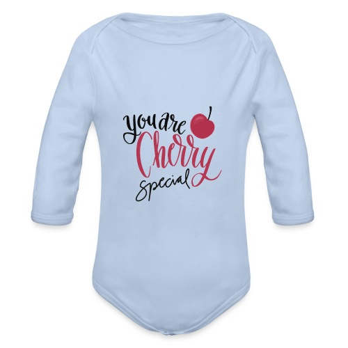 Cherry Special - Ekologisk långärmad babybody