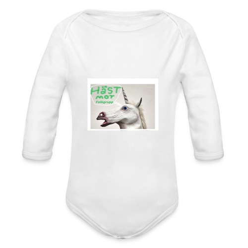 haest mot folkgrupp - Ekologisk långärmad babybody