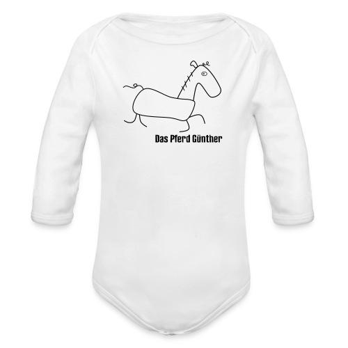 Das Pferd Günther - Baby Bio-Langarm-Body