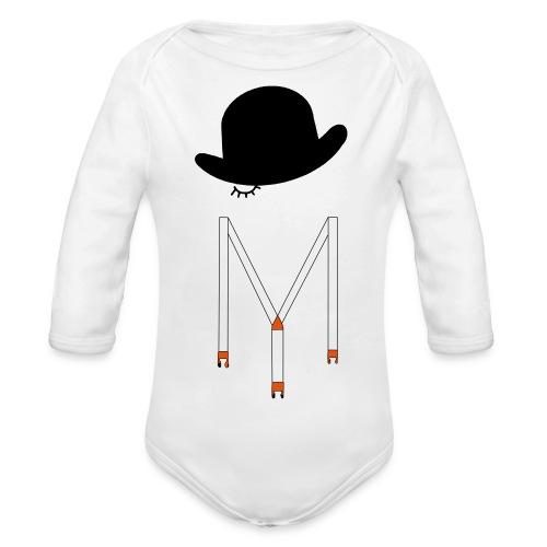 Orange Méca - Body Bébé bio manches longues