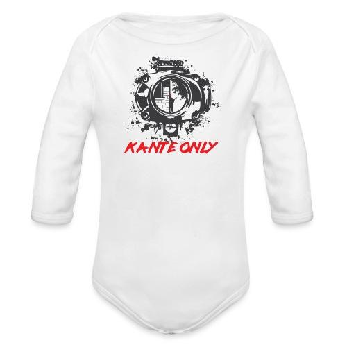 Kante Only (weiß) - Baby Bio-Langarm-Body