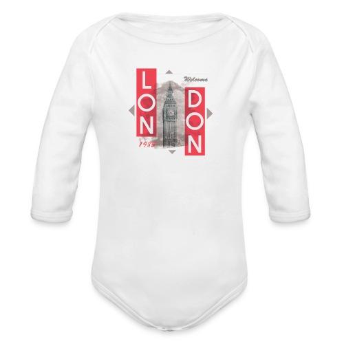 Welcome London - Organic Longsleeve Baby Bodysuit