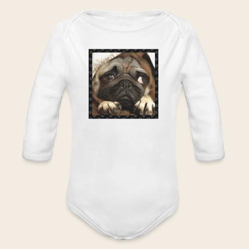 Mops Hund 1 - Baby Bio-Langarm-Body