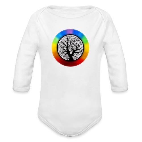 tree of life png - Baby bio-rompertje met lange mouwen