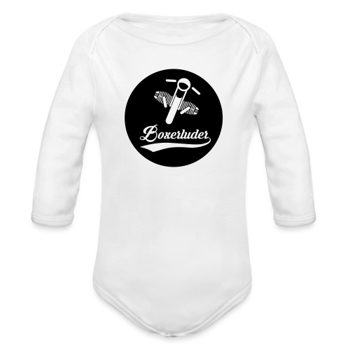 Motorrad Fahrer Shirt Boxerluder - Baby Bio-Langarm-Body