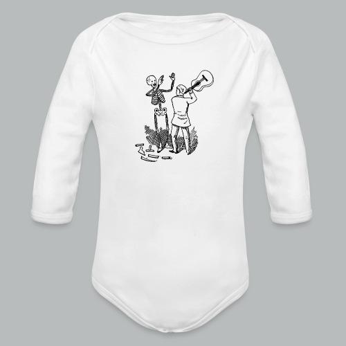 DFBM unbranded black - Organic Longsleeve Baby Bodysuit
