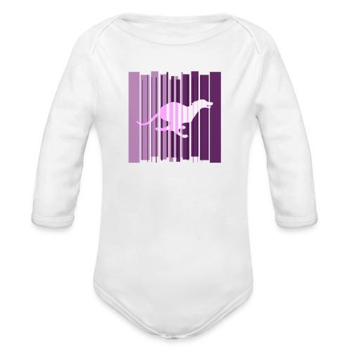 Sighthound In Purple Women's T - Organic Longsleeve Baby Bodysuit