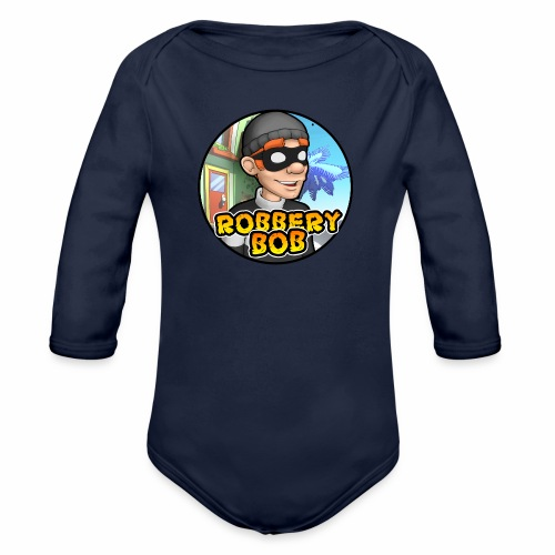 Robbery Bob Button - Organic Longsleeve Baby Bodysuit