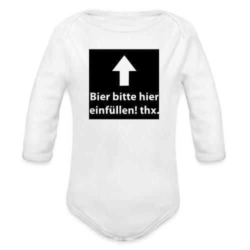 einfüllen1 - Baby Bio-Langarm-Body