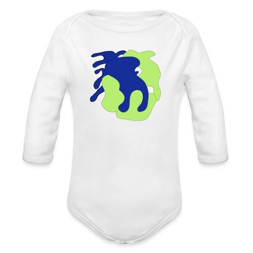 Macchie_di_colore-ai - Body ecologico per neonato a manica lunga