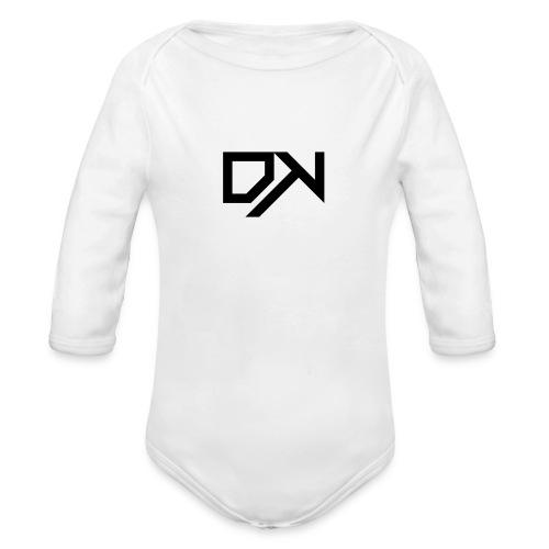 DewKee Logo T-Shirt Black - Organic Longsleeve Baby Bodysuit