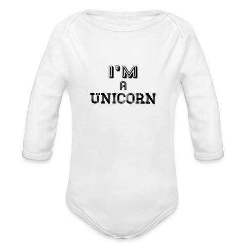 Unicorn | Mannen T-Shirt - Baby bio-rompertje met lange mouwen