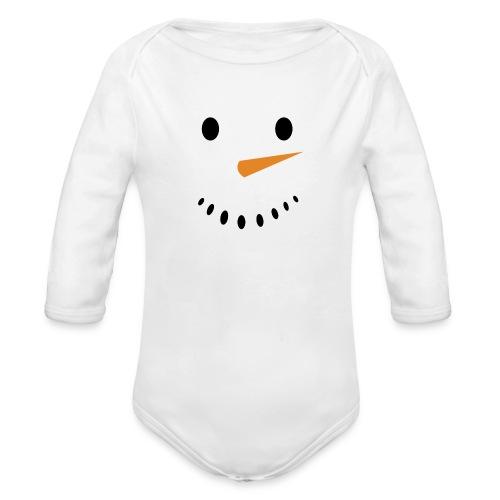 Bonhomme de neige Noël Hiver - Body Bébé bio manches longues