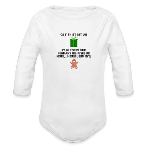 T-shirt cadeau de Noël - Body Bébé bio manches longues