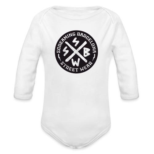 BASIC LOGO SWEATSHIRT BLACK - Body orgánico de manga larga para bebé