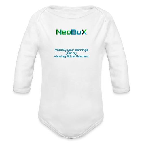 NeoBuX Blue - Organic Longsleeve Baby Bodysuit