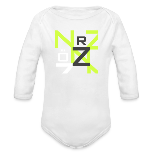 Nörthstat Group™ Clear Transparent Main Logo - Organic Longsleeve Baby Bodysuit