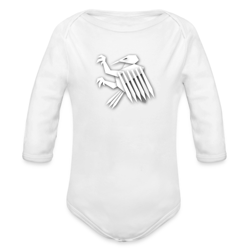 Nörthstat Group ™ White Alaeagle - Organic Longsleeve Baby Bodysuit