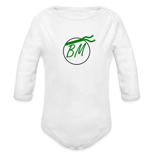Braminer army logo - Organic Longsleeve Baby Bodysuit