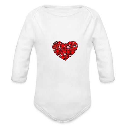 Hjertebarn - Langærmet babybody, økologisk bomuld