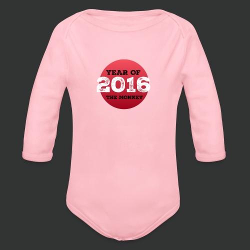 2016 year of the monkey - Organic Longsleeve Baby Bodysuit