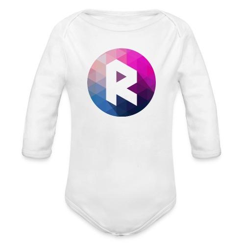 radiant logo - Organic Longsleeve Baby Bodysuit
