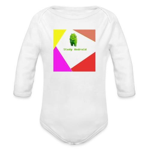 Study Android - Body orgánico de manga larga para bebé