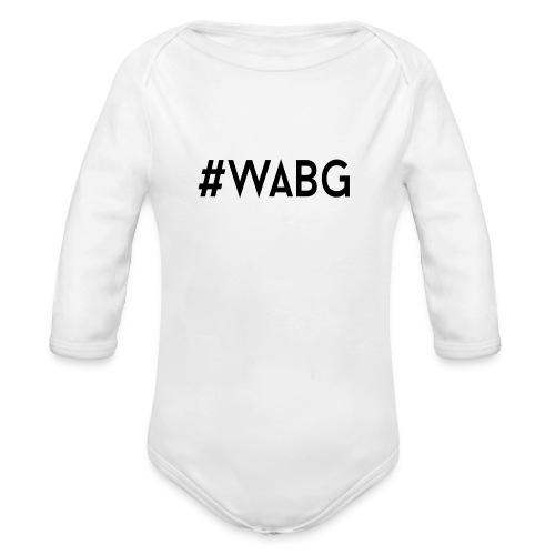 WABG ZWART png - Baby bio-rompertje met lange mouwen