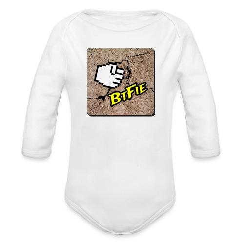 BrutalFissure Tee - Langærmet babybody, økologisk bomuld