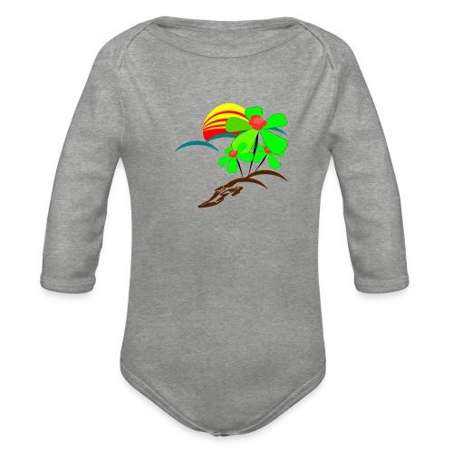 Berry - Organic Longsleeve Baby Bodysuit