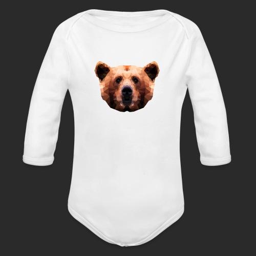 Low-Poly Bear - Baby Bio-Langarm-Body