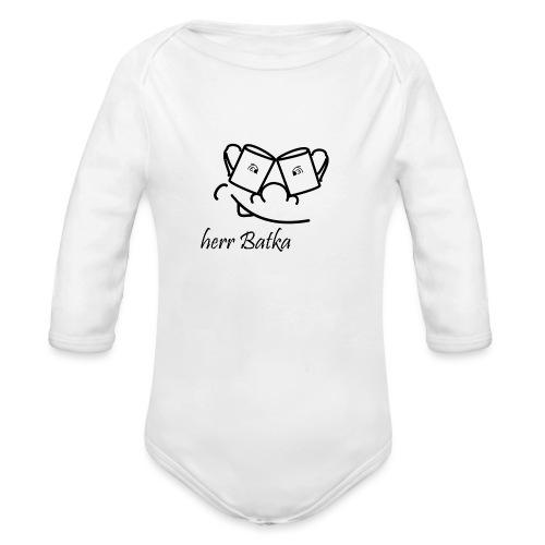 herr batka - Ekologiczne body niemowlęce z długim rękawem