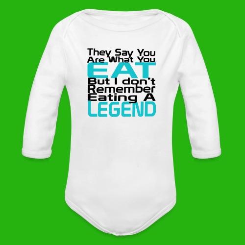You Are What You Eat Shirt - Organic Longsleeve Baby Bodysuit