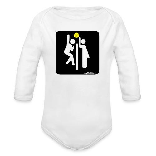 Toilet Volley - Body ecologico per neonato a manica lunga