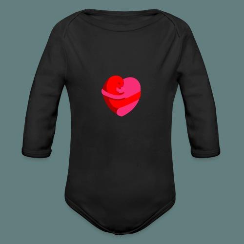 hearts hug - Body ecologico per neonato a manica lunga