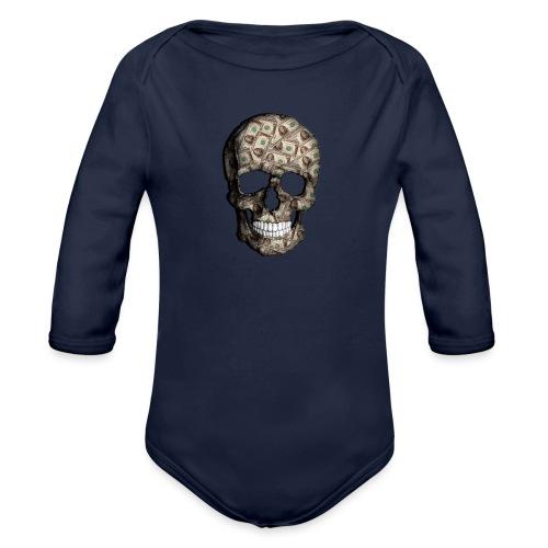 Skull Money Black - Body orgánico de manga larga para bebé