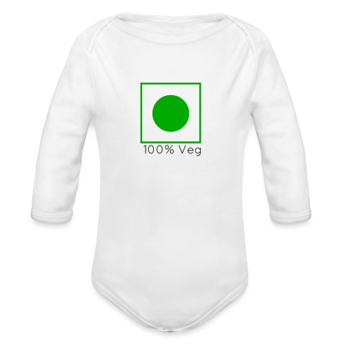 100veg-png - Ekologisk långärmad babybody