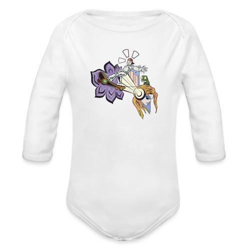 Spring Doodle - Baby bio-rompertje met lange mouwen