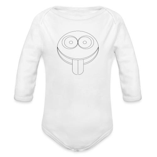 faccia - Body ecologico per neonato a manica lunga