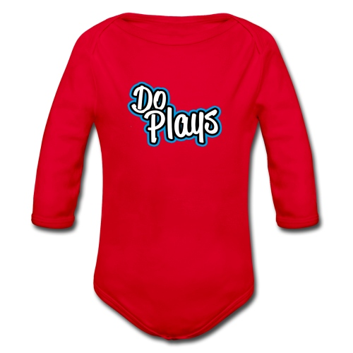 Mannen Baseball | Doplays - Baby bio-rompertje met lange mouwen
