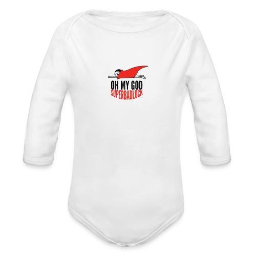 ohmygod_superbadluck-png - Body ecologico per neonato a manica lunga