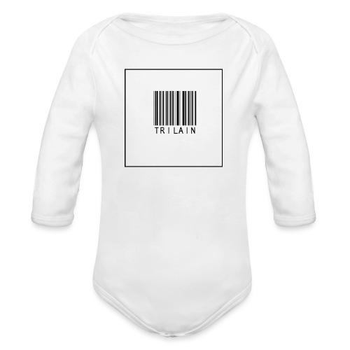 Trilain - Standard Logo T - Shirt - Baby bio-rompertje met lange mouwen