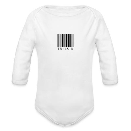 Trilain - Standard Logo T - Shirt White - Baby bio-rompertje met lange mouwen