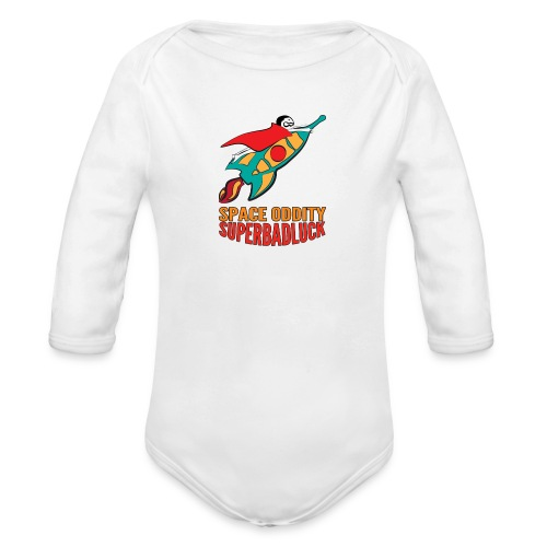 superbadluck- SPACEODDITY - Body ecologico per neonato a manica lunga