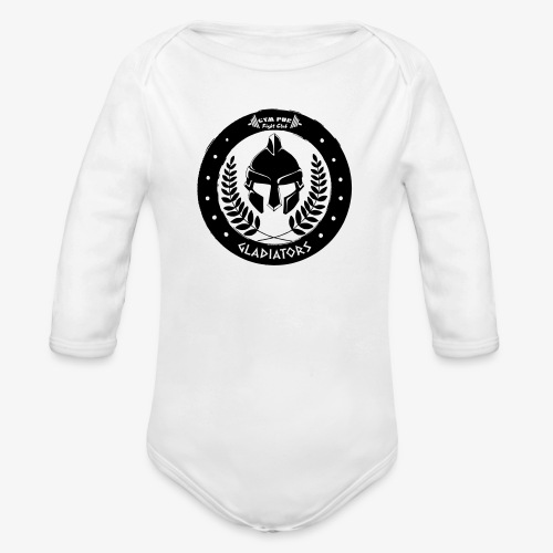 Gym Pur Gladiators Logo - Organic Longsleeve Baby Bodysuit