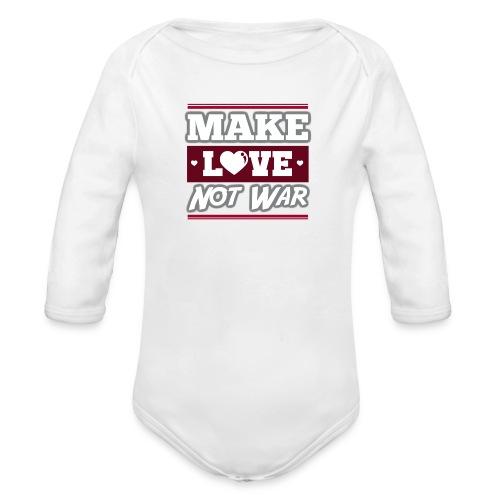 Make_love_not_war by Lattapon - Langærmet babybody, økologisk bomuld