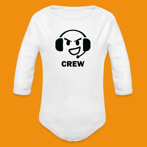 T-shirt-front - Langærmet babybody, økologisk bomuld